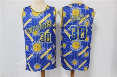 Limited Retro Version NBA Golden State Warriors Blue #30 Jersey