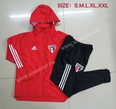 2020-2021 Sao Paulo Red Wind Coat Uniform With Hat-815