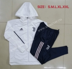 2020-2021 Juventus White Wind Coat Uniform With Hat-815