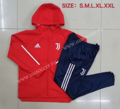 2020-2021 Juventus Red  Wind Coat Uniform With Hat-815