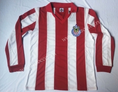 60 Seaon Retro Version  Deportivo Guadalajara Home Red & White LS Thailand Soccer Jersey AAA-912