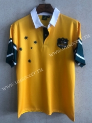 1999 Retro Australia Roosters Yellow Thailand Rugby Shirt