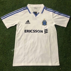 1999-2000 Retro Version Olympique de Marseille Home White Thailand Soccer Jersey AAA-503
