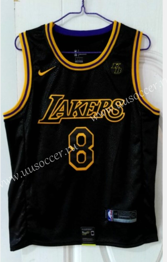 City Version Lakers Black #8 With Kobe logo Jersey,Los Angeles Lakers
