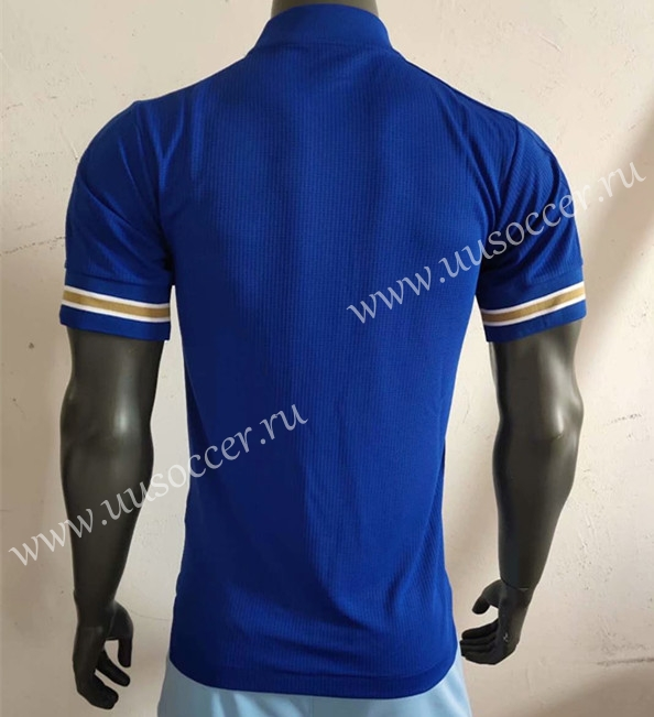 Player version 2020-2021 Leicester City Home Blue Thailand ...