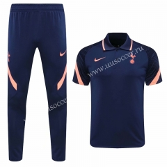 2020-2021 Tottenham Hotspur Royal Blue Thailand Polo Uniform-815