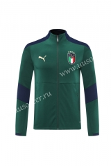 2020-2021 Italy Green Traning Thailand Soccer Jacket -LH