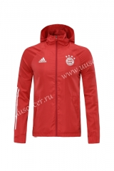2020-2021 Bayern München Red Wind Coat With Hat-LH