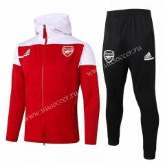 2020-2021 Arsenal Red Thailand Soccer Jacket Uniform With Hat-815