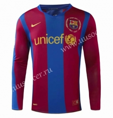 0708 Retro version Barcelona Home Red & Blue Thailand LS Soccer Jersey AAA-908