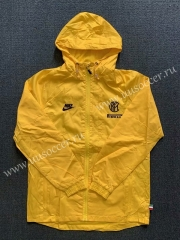 2020-2021 Inter Milan Yellow Wind Coat With Hat-WD