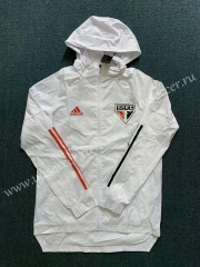 2020-2021 Sao Paulo White Wind Coat With Hat-WD