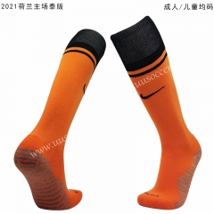 2020-2021 Netherlands Home Orange Thailand Soccer Socks