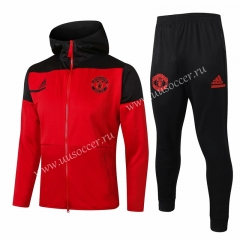2020-2021 Manchester United Red Soccer Jacket Uniform With Hat-815