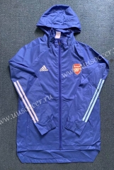 2020-2021 Arsenal Blue Trench Coats With Hat-WD