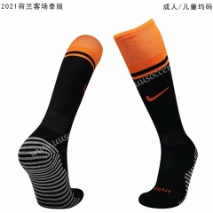 2020-2021 Netherlands Away Black Thailand Soccer Socks