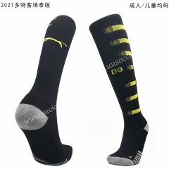 2020-2021 Borussia Dortmund Away Black Soccer Socks