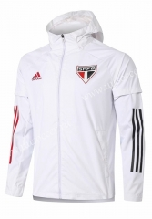 2020-2021 Sao Paulo White Wind Coat  With Hat-815