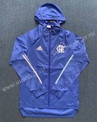 2020-2021 Flamengo Blue Wind Coat With Hat-WD