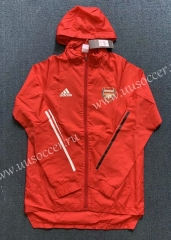2020-2021 Arsenal Red Trench Coats With Hat-WD