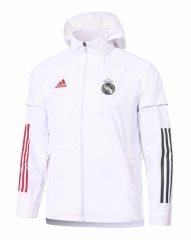 2020-2021 Real Madrid White Wind Coat With Hat-815