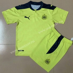 2020-2021 Newcastle United Away Yellow Soccer Uniform-AY