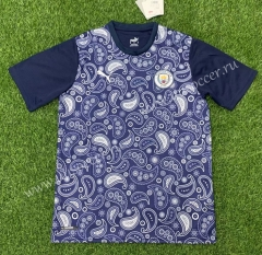 2020-2021 Manchester City Blue Thailand Soccer Training Jersey-407