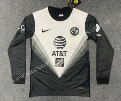 2020-2021 Club America Gray & White LS Thailand Soccer Jersey AAA