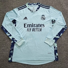 2020-2021 Real Madrid Goalkeeper Green LS Thailand Soccer Jersey AAA-