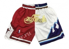 NBA Chicago Bull Red & White Shorts