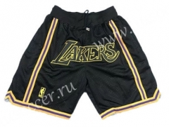 NBA Los Angeles Lakers Black Shorts