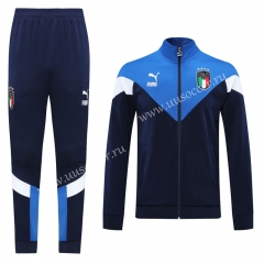 Classic Version 2020-2021 Italy Royal Blue Thailand Soccer Jacket Uniform-LH