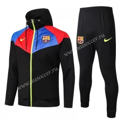 2020-2021 Barcelona Black Thailand Soccer Jacket Uniform With Hat-815