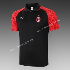2020-2021 AC Milan Black Thailand Polo Shirts-815