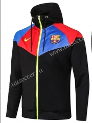 2020-2021 Barcelona Black Thailand Soccer Jacket With Hat-815