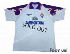 95-96 Retro Version Fiorentina Away White Thailand Soccer Jersey AAA-503