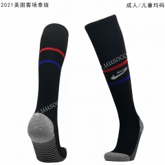 202-21 USA Away Black Thailand Soccer Socks
