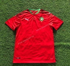 2020-2021 Morocco Home Red Thailand Soccer Jersey AAA-503