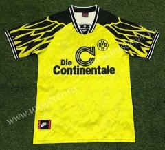 94-95 Retro Version  Borussia Dortmund Home Yellow Thailand Soccer Jersey AAA-503