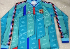 96-97 Retro Version Barcelona Blue Thailand LS Soccer Jersey AAA-811