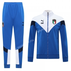 Classic Version 2020-2021 ItalyBlue Thailand Soccer Jacket Uniform-LH