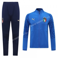 Traning Version 2020-2021 Italy Blue Thailand Soccer Jacket Uniform-LH
