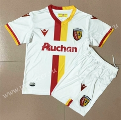2020-2021 RC Lens Away White Soccer Uniform AAA-AY