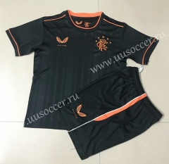2020-2021 Rangers 2nd Away Black Thailand Soccer Unifrom-AY