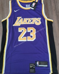 NBA Lakers Purple #23 Jersey-CS