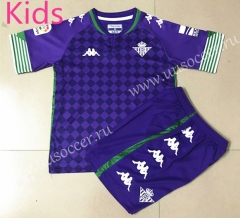 2020-2021 Real Betis Away Purple Youth-Kid Soccer Uniform-AY