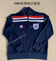 1980 Retro Version England Blue Soccer Thailand Jacket-AY