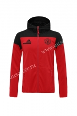 2020-2021 Manchester United Red Soccer Jacket With Hat-LH