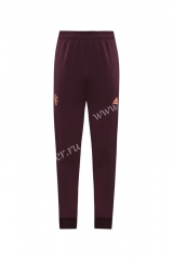 2020-2021 Manchester United Maroon Red Soccer Jacket Long Pants-LH