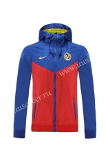 2020-2021 Club América Red & Blue Thailand Wind Coat With Hat-LH